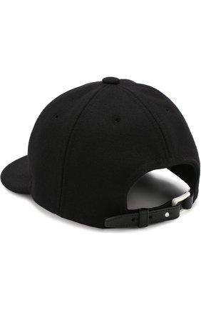 Женская шерстяная кепка vltn VALENTINO черного цвета, арт. QW2H0A11/PBJ   Фото 2