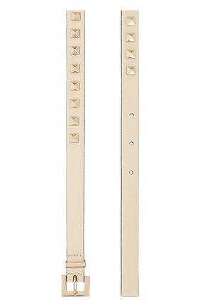 Женский кожаный ремень valentino garavani rockstud VALENTINO белого цвета, арт. QW2T0535/VIT | Фото 2