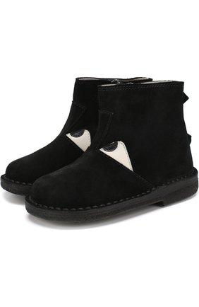 Замшевые ботинки с декором | Фото №1