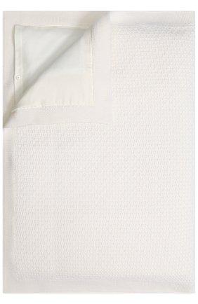 Шерстяное одеяло Baby T белого цвета | Фото №1