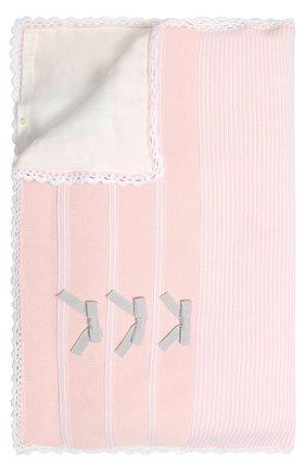 Шерстяное одеяло Baby T розового цвета | Фото №1