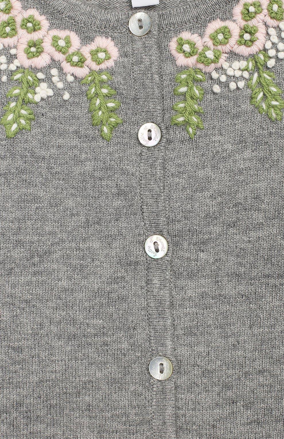 Детский кардиган из смеси шерсти и кашемира TARTINE ET CHOCOLAT серого цвета, арт. TM18021/2A-3A | Фото 3 (Материал внешний: Шерсть; Рукава: Длинные; Статус проверки: Проверено, Проверена категория)
