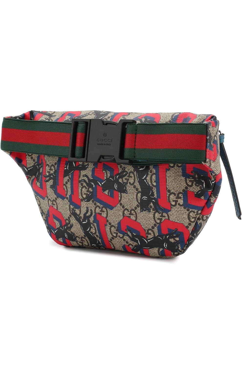 88a9f3b420b7 Поясная сумка GUCCI разноцветного цвета — купить за 22700 руб. в ...