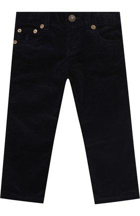 Детские вельветовые брюки прямого кроя POLO RALPH LAUREN синего цвета, арт. 313698873   Фото 1