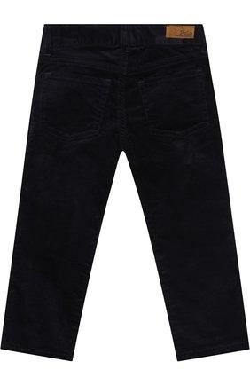 Детские вельветовые брюки прямого кроя POLO RALPH LAUREN синего цвета, арт. 313698873   Фото 2