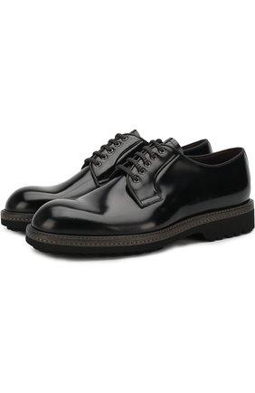 Кожаные дерби на шнуровке Barrett черные | Фото №1