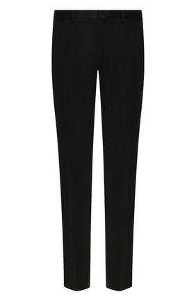Мужской брюки прямого кроя DOLCE & GABBANA черного цвета, арт. GYA5MT/FUCD4 | Фото 1