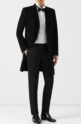Мужской брюки прямого кроя DOLCE & GABBANA черного цвета, арт. GYA5MT/FUCD4 | Фото 2