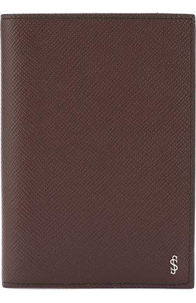 Кожаная обложка для паспорта Evoluzione Serapian черного цвета | Фото №1