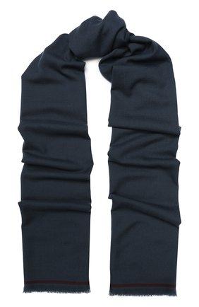Мужской шерстяной шарф с необработанным краем LORO PIANA темно-серого цвета, арт. FAI1134 | Фото 1
