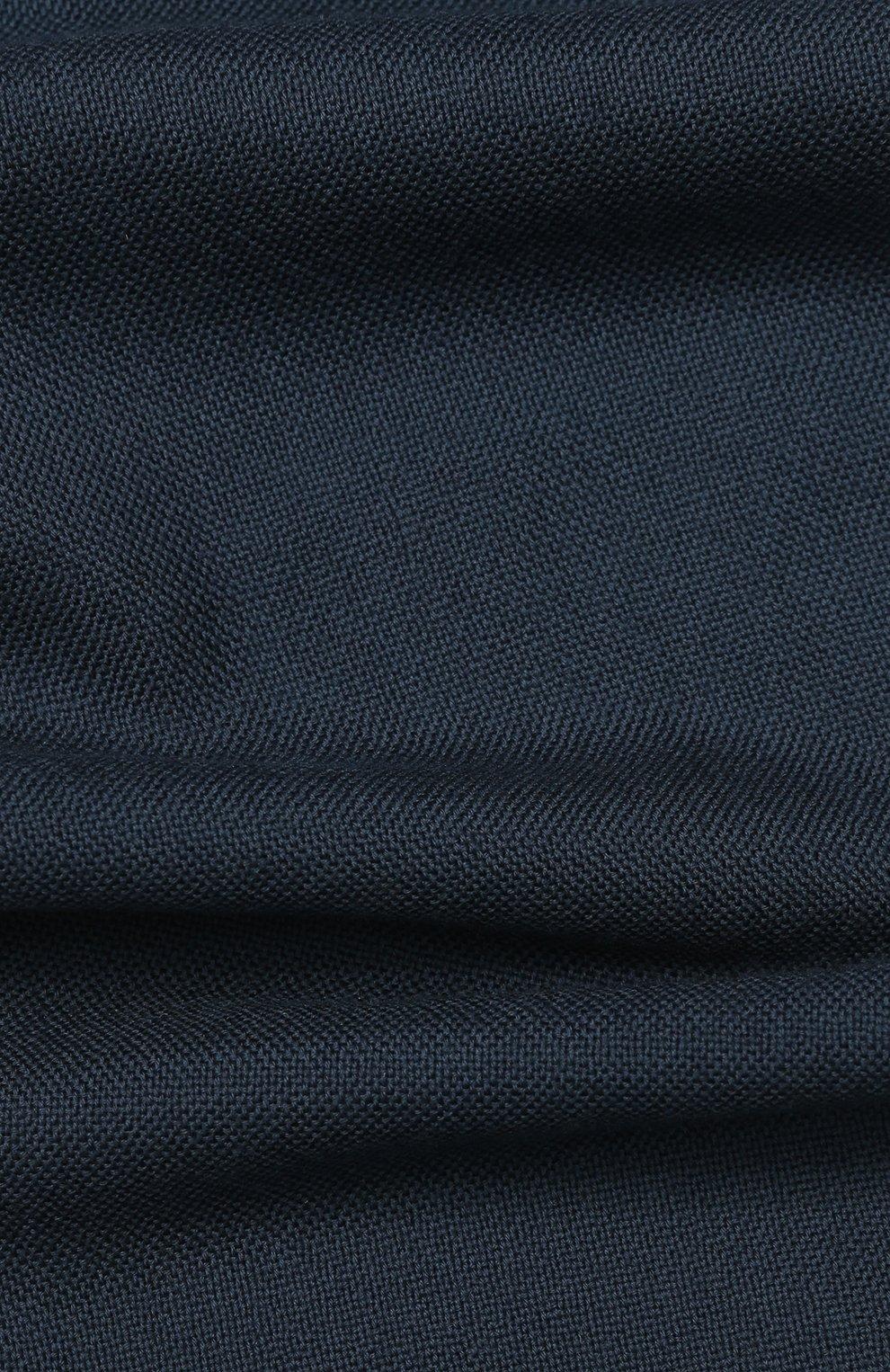 Мужской шерстяной шарф с необработанным краем LORO PIANA темно-серого цвета, арт. FAI1134   Фото 2