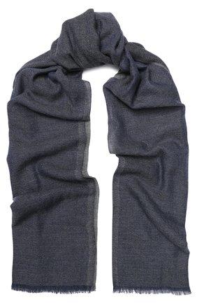 Мужской шарф из смеси кашемира и шелка LORO PIANA темно-серого цвета, арт. FAI2183 | Фото 1