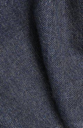 Мужской шарф из смеси кашемира и шелка LORO PIANA темно-серого цвета, арт. FAI2183 | Фото 2