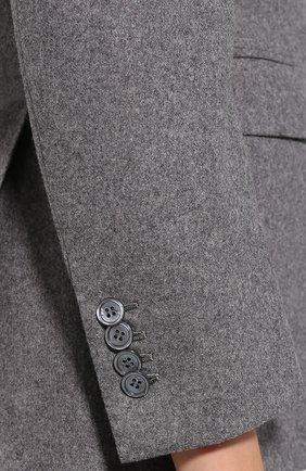 Двубортный шерстяной жакет Kiton серый | Фото №5