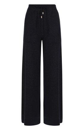 Кашемировые брюки свободного кроя Colombo темно-синие | Фото №1
