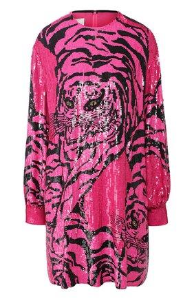 Шелковое мини-платье с пайетками | Фото №1