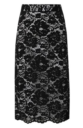 Кружевная юбка-карандаш DKNY черно-белая | Фото №1