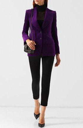 Женский приталенный бархатный жакет TOM FORD фиолетового цвета, арт. GI2529-FAX393 | Фото 2