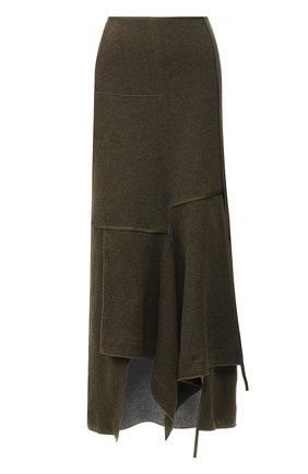 Однотонная юбка асимметричного кроя