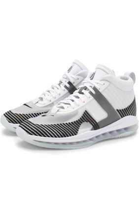 Комбинированные кроссовки LeBron x John Elliott Icon на шнуровке NikeLab черно-белые   Фото №1