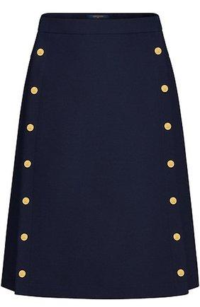 Однотонная юбка А-силуэта | Фото №1