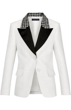 Приталенный жакет с контрастными лацканами Louis Vuitton белый | Фото №1