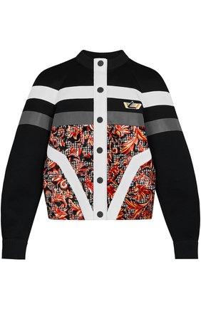 Кардиган на пуговицах с принтом Louis Vuitton черный | Фото №1