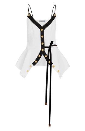 Топ на бретельках с декоративными пуговицами Louis Vuitton белый | Фото №1