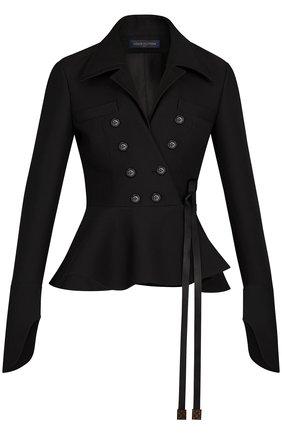 Двубортный приталенный жакет Louis Vuitton черный | Фото №1