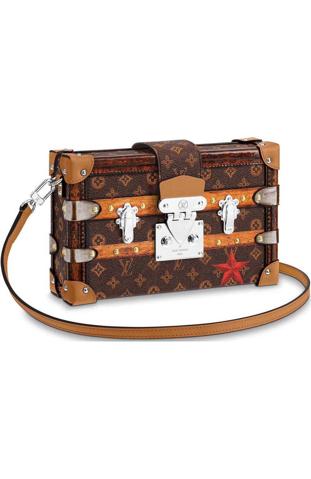 f6b6f239cea8 Женская сумка petite malle time trunk LOUIS VUITTON коричневая цвета ...