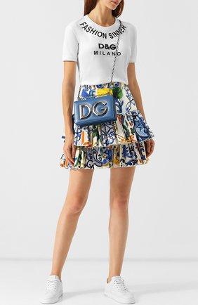 Сумка DG Girls Dolce & Gabbana синяя цвета   Фото №1