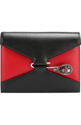 Сумка Pin Alexander McQueen черная цвета   Фото №1