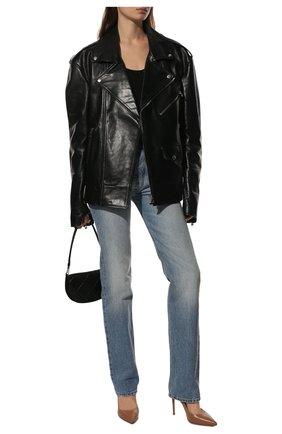 Женские кожаные туфли gianvito 105 GIANVITO ROSSI бежевого цвета, арт. G28470.15RIC.NAPPRAL | Фото 2