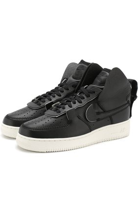 Кожаные кеды Air Force 1 High NikeLab черные   Фото №1