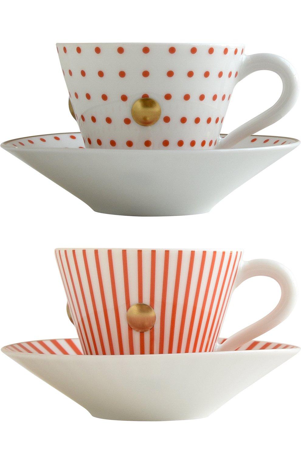 Мужского набор из 2-х чашек с блюдцами delphos&knossos BERNARDAUD красного цвета, арт. 1777/22464 | Фото 1