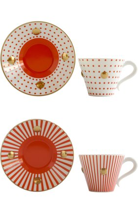 Мужская набор из 2-х чашек с блюдцами delphos&knossos BERNARDAUD красного цвета, арт. 1777/22464 | Фото 2