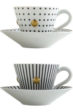 Мужского набор из 2-х чашек с блюдцами delphos&knossos BERNARDAUD синего цвета, арт. 1777/22465 | Фото 1