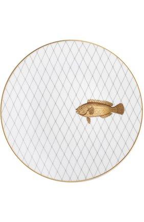 Мужского набор из 6-ти обеденных тарелок poissons d'or BERNARDAUD золотого цвета, арт. 2445/6853 | Фото 2
