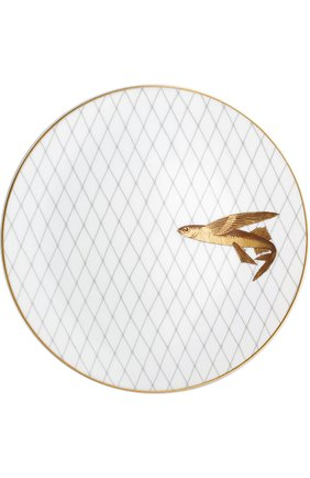 Мужского набор из 6-ти обеденных тарелок poissons d'or BERNARDAUD золотого цвета, арт. 2445/6853 | Фото 3