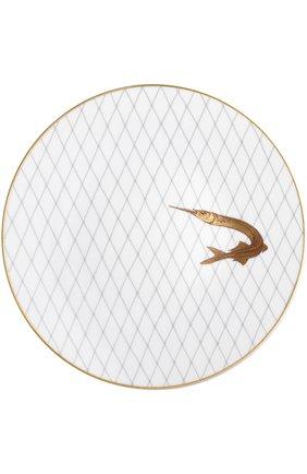 Мужского набор из 6-ти обеденных тарелок poissons d'or BERNARDAUD золотого цвета, арт. 2445/6853 | Фото 4