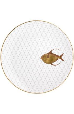 Мужского набор из 6-ти обеденных тарелок poissons d'or BERNARDAUD золотого цвета, арт. 2445/6853 | Фото 5