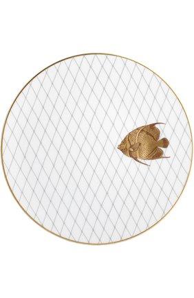 Мужского набор из 6-ти обеденных тарелок poissons d'or BERNARDAUD золотого цвета, арт. 2445/6853 | Фото 6