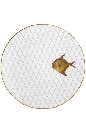 Мужского набор из 6-ти обеденных тарелок poissons d'or BERNARDAUD золотого цвета, арт. 2445/6853 | Фото 7