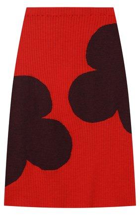 Шерстяная миди-юбка с контрастной отделкой | Фото №1