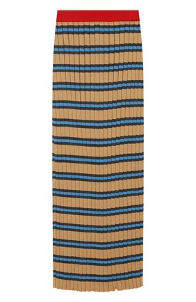 Плиссированная макси-юбка из хлопка | Фото №1