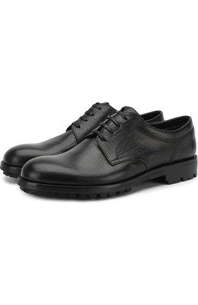 Лаковые дерби на шнуровке Moreschi черные | Фото №1