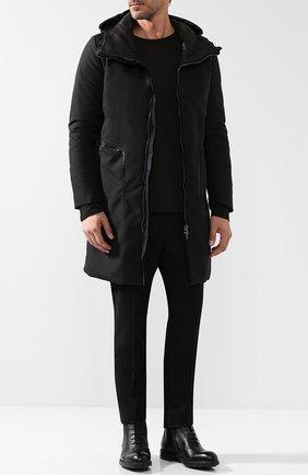 Кожаные высокие ботинки на шнуровке Moreschi черные | Фото №1