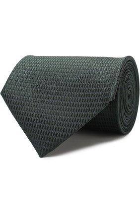 Мужской шелковый галстук ERMENEGILDO ZEGNA темно-зеленого цвета, арт. Z4E07/1XW | Фото 1