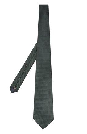 Мужской шелковый галстук ERMENEGILDO ZEGNA темно-зеленого цвета, арт. Z4E07/1XW | Фото 2