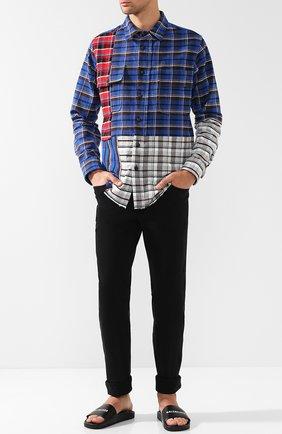 Мужские кожаные шлепанцы piscine BALENCIAGA черного цвета, арт. 530501/WAL00 | Фото 2
